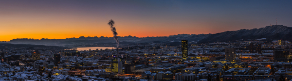 Zürich im Winter Panorama 1