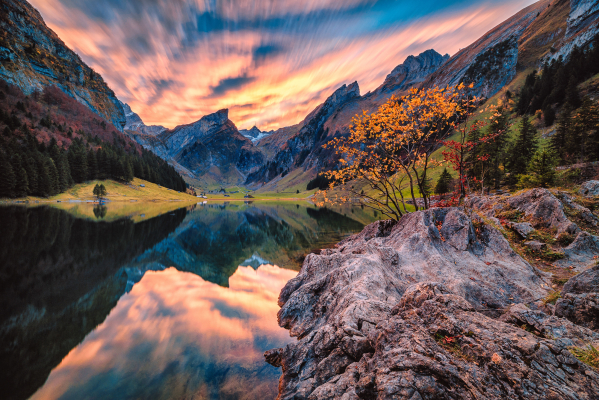 Seealpsee Sunset Colors