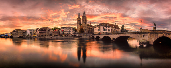 Zürich Panoramic Sunrise