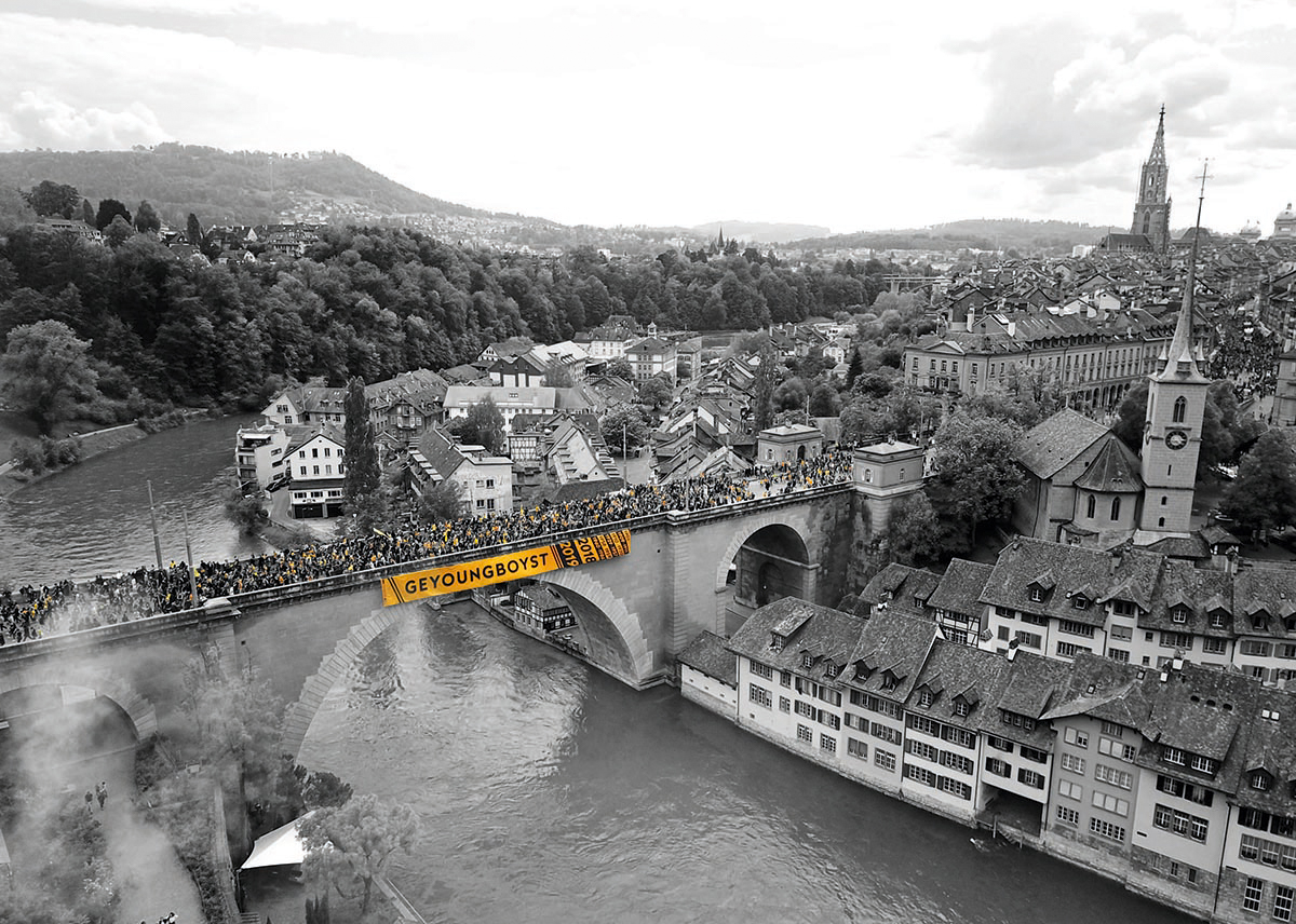 swisskylinech  bild yb nydeggbrücke schwarzweiss online